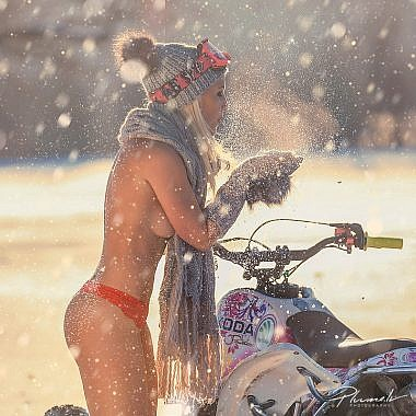 Snow, nude, kailfoto, winter girl