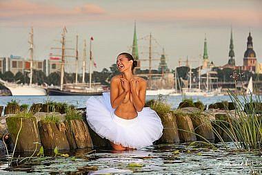 Balerīna, Rīga, The Tall Ships Races, Kailfoto, Fotogrāfs Mārtiņš Plūme
