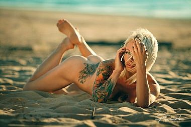 Kailfoto, nude tatto, tatto, meitene ar tetovejumu, 18+,  Fotogrāfs Mārtiņš Plūme