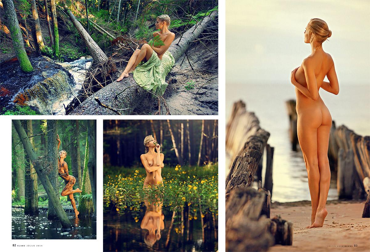 Sibilla, kailfoto, zurnals Klubs, erotiska fotosesija, fotografs Martins Plume, nude art