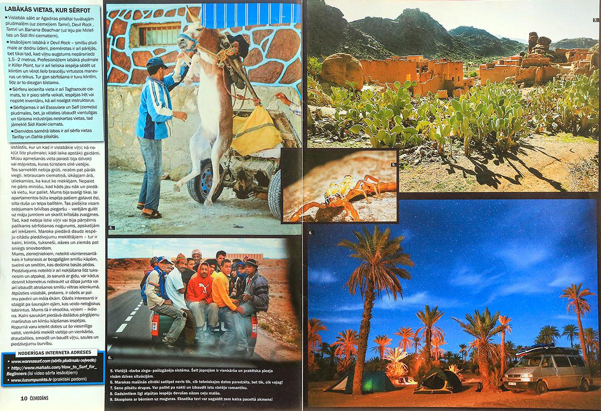 Maroka, Marokas ceļojums, ceļojums uz Maroku