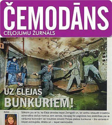 Žurnāls Čemodāns, uz Elejas bunkuriem!