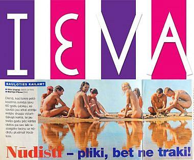 Žurnāls Ieva 2006, nūdistu pludmale