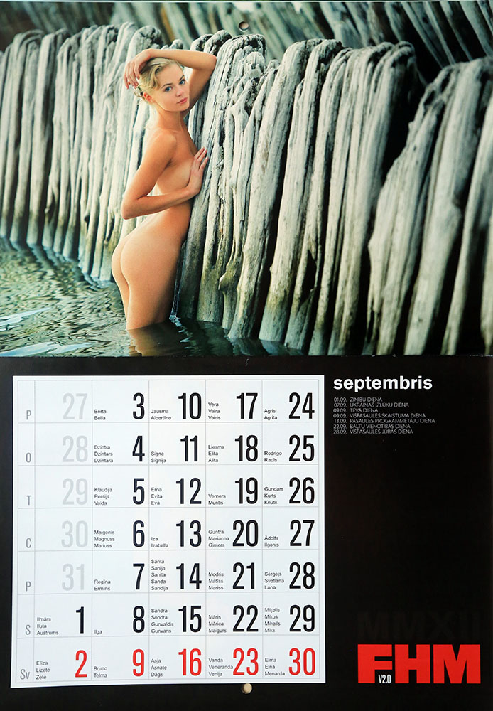 FHM erotiskais kalendars 2012