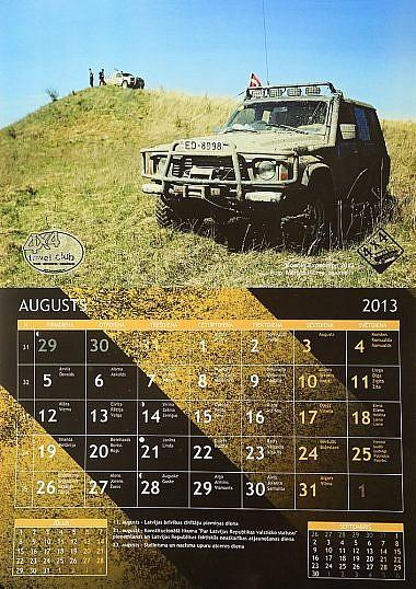 4X4 SHOP kalendārs