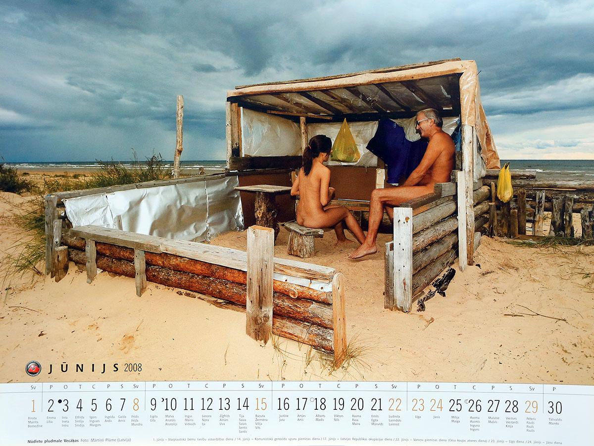Nudistu pludmale, Vecaku nudistu pludmale, fotografs Martins Plume