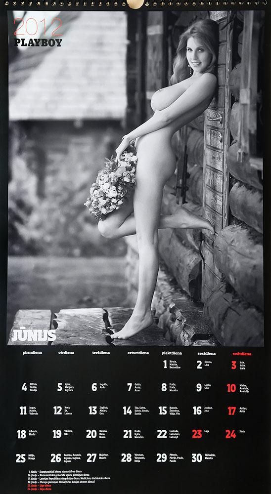 Playboy calendar, Zane Ezerina, Latvia