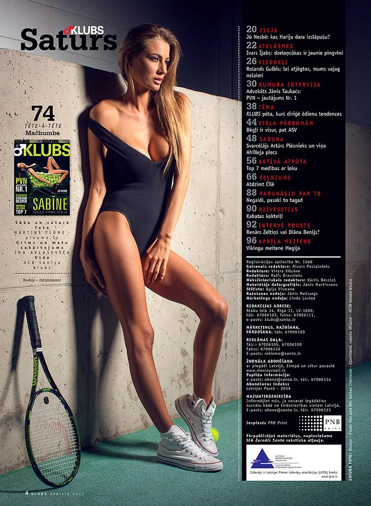 Zurnals Klubs, Sabine Briede, kailfoto sesija, fotografs Martins Plume, teniss, magazine klubs (1)